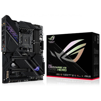 Asus ROG CROSSHAIR VIII Dark Hero AMD X570 ATX Gaming Motherboard Main Product Image