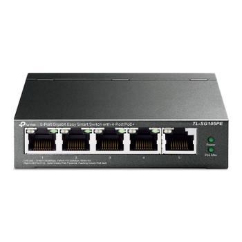 Image for TP-Link TL-SG105PE 5-Port Gigabit Easy Smart Switch with 4 Port PoE+ AusPCMarket