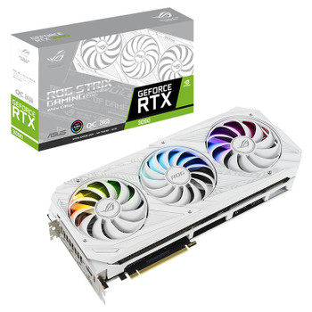 Asus GeForce RTX 3090 ROG Strix Gaming OC 24GB Video Card - White Edition Main Product Image