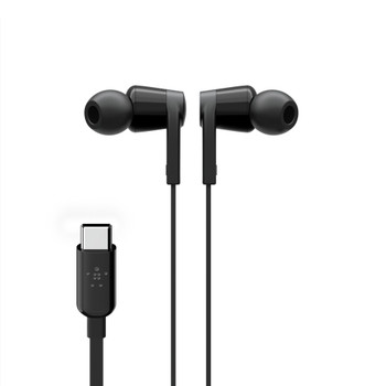 Belkin USB-C IN-EAR HEADPHONE BLACK - Universally compatible - Black Product Image 2