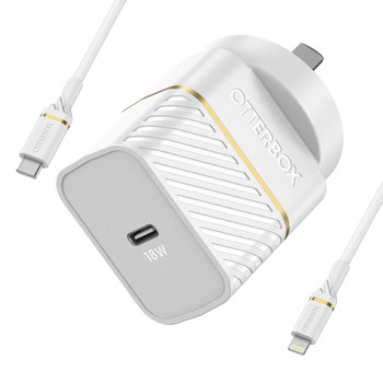 OtterBox Single Port USB-C/18W Wall Charger - With 1m Cable Main Product Image