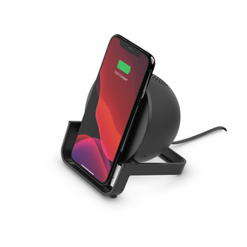 Belkin BOOSTCHARGE 10W Wireless Charging Stand and Speaker - Universally compatible - Black Main Product Image