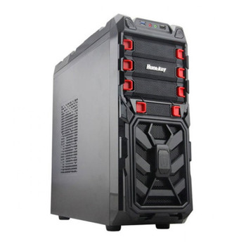 Huntkey Spider Gaming Steel Mid-Tower ATX Case - Black Main Product Image