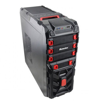 Huntkey Spider Gaming Steel Mid-Tower ATX Case - Red Main Product Image