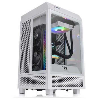 Thermaltake The Tower 100 Mini Tempered Glass M-ITX Case - Snow Edition Product Image 2