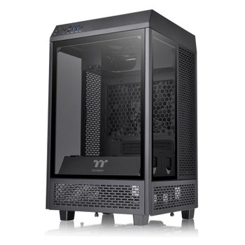 Thermaltake The Tower 100 Mini Tower Tempered Glass M-ITX Case - Black Main Product Image