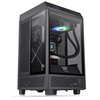 Thermaltake The Tower 100 Mini Tower Tempered Glass M-ITX Case - Black Product Image 2