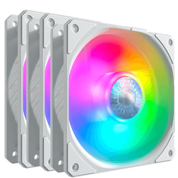 Cooler Master SickleFlow ARGB 120mm Fan - White 3 Pack Main Product Image