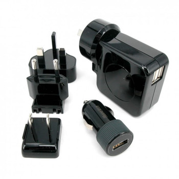 Huntkey TravelMate Multi Plugs USB Wall Adaptor with Car Charger Main Product Image