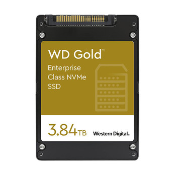 Western Digital WD WDS384T1D0D 3.84TB Gold 2.5in NVMe Enterprise SSD Main Product Image
