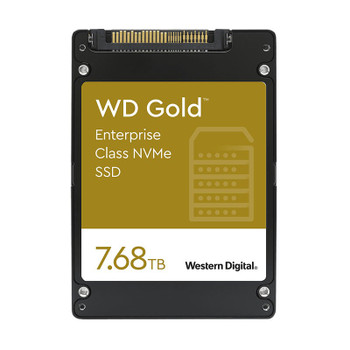 Western Digital WD WDS768T1D0D 7.68TB Gold 2.5in NVMe Enterprise SSD Main Product Image