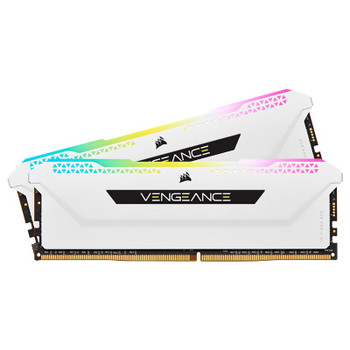 Corsair Vengeance RGB PRO SL 16GB (2x 8GB) DDR4 3200MHz CL16 Memory - White Main Product Image