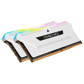 Corsair Vengeance RGB PRO SL 16GB (2x 8GB) DDR4 3200MHz CL16 Memory - White Product Image 2