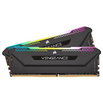Corsair Vengeance RGB PRO SL 16GB (2x 8GB) DDR4 3200MHz CL16 Memory AMD - Black Main Product Image