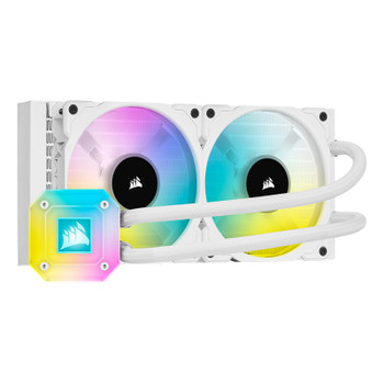 Corsair iCUE H100i ELITE CAPELLIX Liquid CPU Cooler — White Main Product Image
