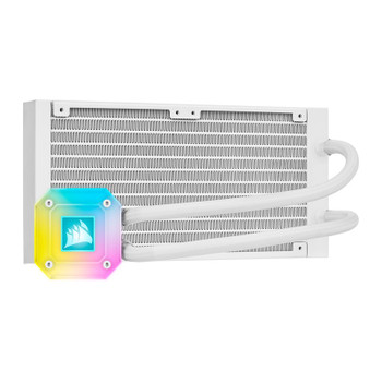 Corsair iCUE H100i ELITE CAPELLIX Liquid CPU Cooler — White Product Image 2