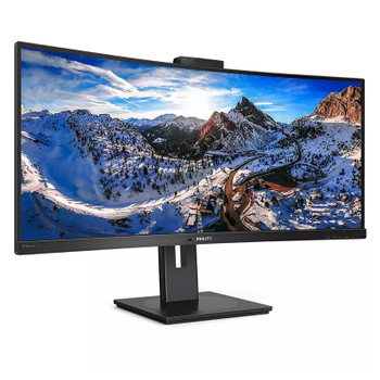 Philips 346P1CRH Curved Ultrawide LCD 34in WQHD Anti-Glare VA Monitor with Webcam Product Image 2