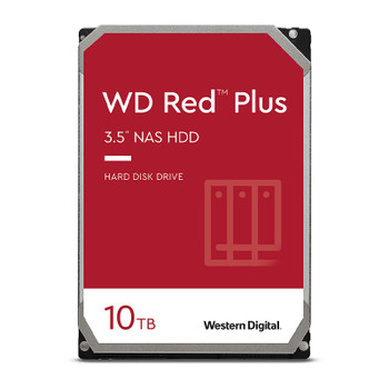 Western Digital WD WD101EFBX 10TB Red Plus 3.5in IntelliPower 7200RPM SATA NAS Hard Drive Main Product Image