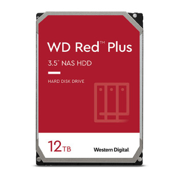 Western Digital WD WD120EFBX 12TB Red Plus 3.5in IntelliPower 7200RPM SATA NAS Hard Drive Main Product Image
