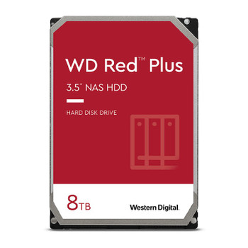 Western Digital WD WD80EFBX 8TB Red Plus 3.5in IntelliPower 7200RPM SATA NAS Hard Drive Main Product Image