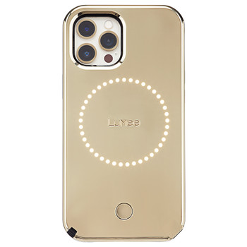 Case-Mate LuMee Halo Case  - For iPhone 12 Pro Max 6.7 - Gold Mirror w/ Micropel Main Product Image