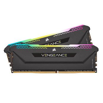 Corsair Vengeance RGB PRO SL 32GB (2x16GB) DDR4 DRAM 3600MHz C18 Memory Kit – AMD Ryzen – Black Main Product Image