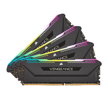 Corsair Vengeance RGB PRO SL 32GB (4x8GB) DDR4 DRAM 3600MHz C18 Memory Kit – Black Main Product Image