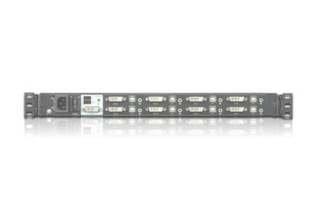 Aten 17.3in Full HD 8 Port DVI LCD KVM - can be mounted in rack with a depth of 52 -85 cm - 2 DVI USB KVM Cables included Product Image 3