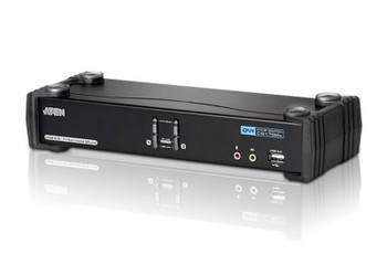 Aten 2 Port USB 2.0 DVI Dual Link KVMP Switch - supports up to 2560 x 1600 @ 60 Hz with Dual Link DVI Main Product Image