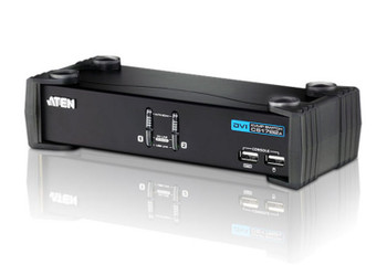 Aten 2 Port USB 2.0 DVI KVMP Switch - supports up to 1920 x 1200 @ 60 Hz - Video DynaSync Main Product Image