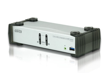 Aten 2 Port USB 3.0 4K DisplayPort KVMP Switch - supports up to 3840  2160 @ 30Hz Main Product Image