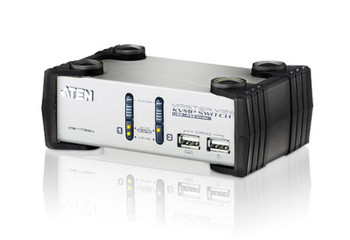 Aten 2 Port USB VGA KVMP Switch with audio - 2 VGA USB KVM Cables included Main Product Image