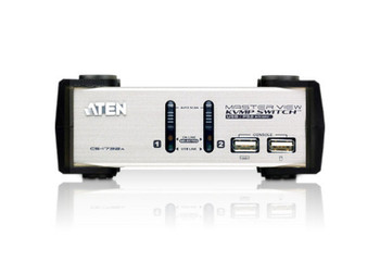 Aten 2 Port USB VGA KVMP Switch with audio - 2 VGA USB KVM Cables included Product Image 2
