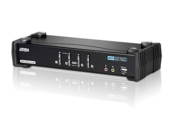 Aten 4 Port USB 2.0 DVI Dual Link KVMP Switch - supports up to 2560 x 1600 @ 60 Hz with Dual Link DVI Main Product Image