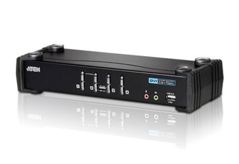 Aten 4 Port USB 2.0 DVI KVMP Switch - supports up to 1920 x 1200 @ 60 Hz - Video DynaSync Main Product Image
