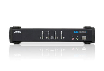 Aten 4 Port USB 2.0 DVI KVMP Switch - supports up to 1920 x 1200 @ 60 Hz - Video DynaSync Product Image 2