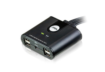 Aten 4 Port USB 2.0 Peripheral Switch - switches four USB devices between 4 different computers Main Product Image