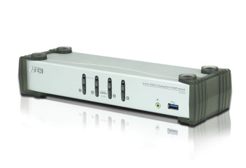 Aten 4 Port USB 3.0 4K DisplayPort KVMP - supports up to 3840  2160 @ 30Hz - DP 1.1 Main Product Image
