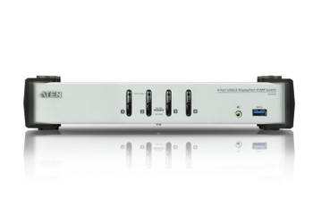 Aten 4 Port USB 3.0 4K DisplayPort KVMP - supports up to 3840  2160 @ 30Hz - DP 1.1 Product Image 2