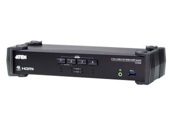 Aten 4 Port USB 3.0 4K HDMI KVMP Switch - Video DynaSync - switching via RS-232 Main Product Image