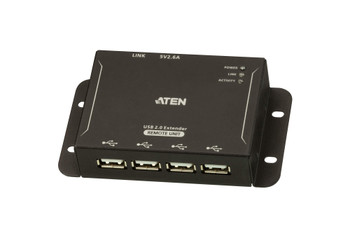 Aten 4-Port USB 2.0 Cat 5 Extender - extends 4 USB devices up to 50m – includes power adapter to power the remote unit - with local unit powered via USB Product Image 2