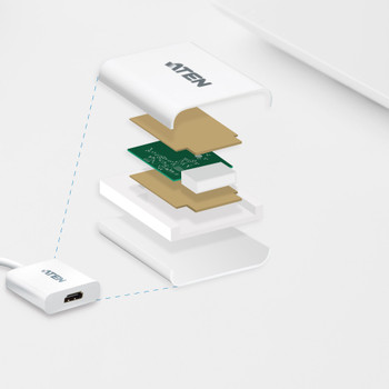 Aten DisplayPort(M) to HDMI(F) Adapter -Premium series with EMI Shielding Product Image 2