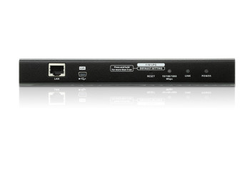 Aten Single Port VGA KVM over IP Switch - supports up to 1920 x 1200 @ 60Hz - 1 VGA USB and PS/2 KVM Cable included Product Image 2