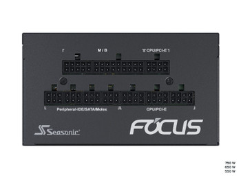 Seasonic 750W Focus GX-750 Gold PSU (SSR-750FX) (OneSeasonic) Product Image 2