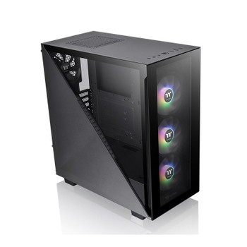 Thermaltake Divider 300 TG Tempered Glass ARGB Mid Tower Case - Black Main Product Image