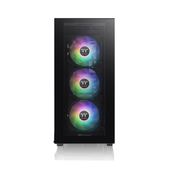 Thermaltake Divider 300 TG Tempered Glass ARGB Mid Tower Case - Black Product Image 2