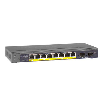 Netgear ProSAFE 8-Port Gigabit PoE Smart Switch with 2 Gigabit Fiber SFP Main Product Image