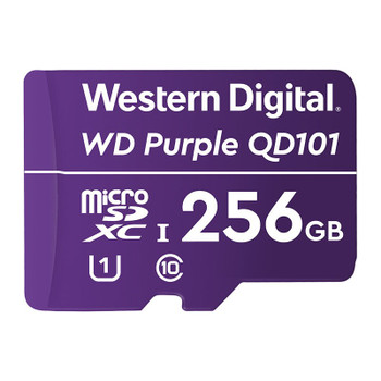 Western Digital WD Purple 256GB microSDXC Class 10 U1 Memory Card Main Product Image