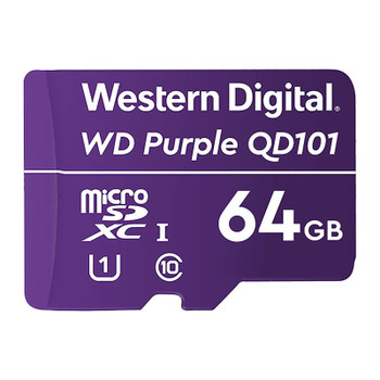 Western Digital WD Purple 64GB microSDXC Class 10 U1 Memory Card Main Product Image