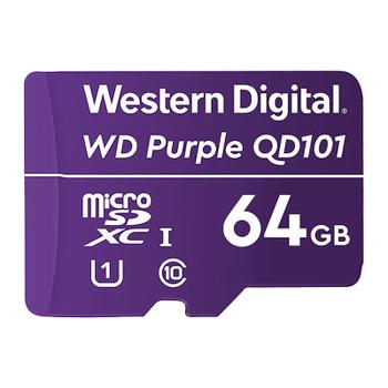 Western Digital WD Purple 64GB microSDXC Class 10 U1 Memory Card Main Product Image
